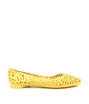 Žluté děrované voňavé baleríny Terra & Aqua