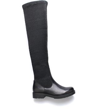 Černé elastické kozačky nad kolena Claudia Ghizzani