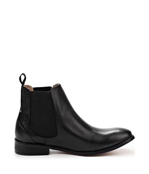 Černé kožené boty pérka Laceys