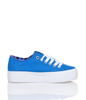 Modré tenisky s vysokou podrážkou MTNG