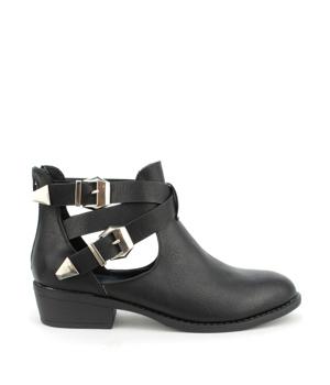 Černé dámské boty s průstřihy Claudia Ghizzani