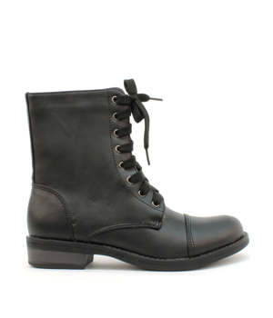 Vyšší šněrovací boty Claudia Ghizzani černé