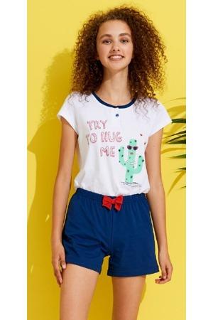 Dámské krátké pyžamo FA6712PB - Noidinotte