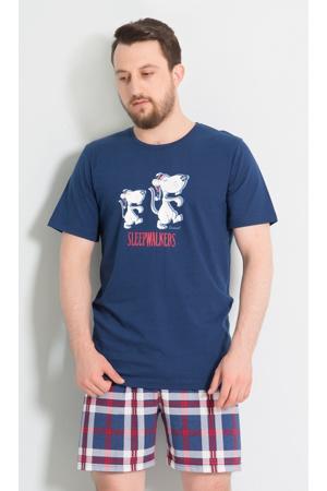 Pánské pyžamo šortky Náměsíčníci