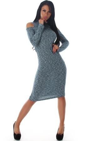 2c5a1a3ecc68 Úpletové midi šaty