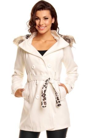 Kabát flísový s kapucí