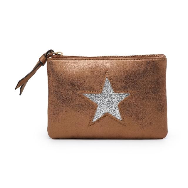 Kosmetická taštička Stars 1 - hnědá hnědá