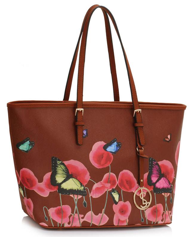 0afd1fa879 Kabelka Fashion Only Butterfly - hnědá - hnědá