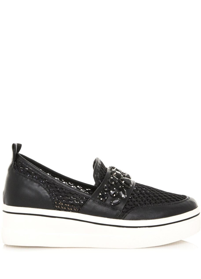 Černé nazouvací boty na platformě Maria Mare - 40