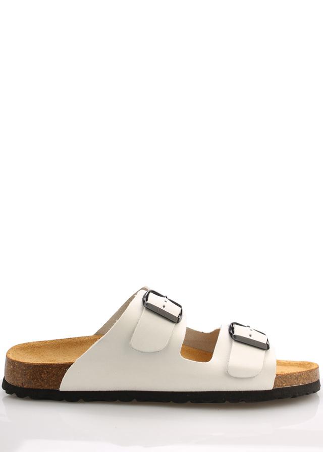 Bílé kožené zdravotní pantofle EMMA Shoes - 39
