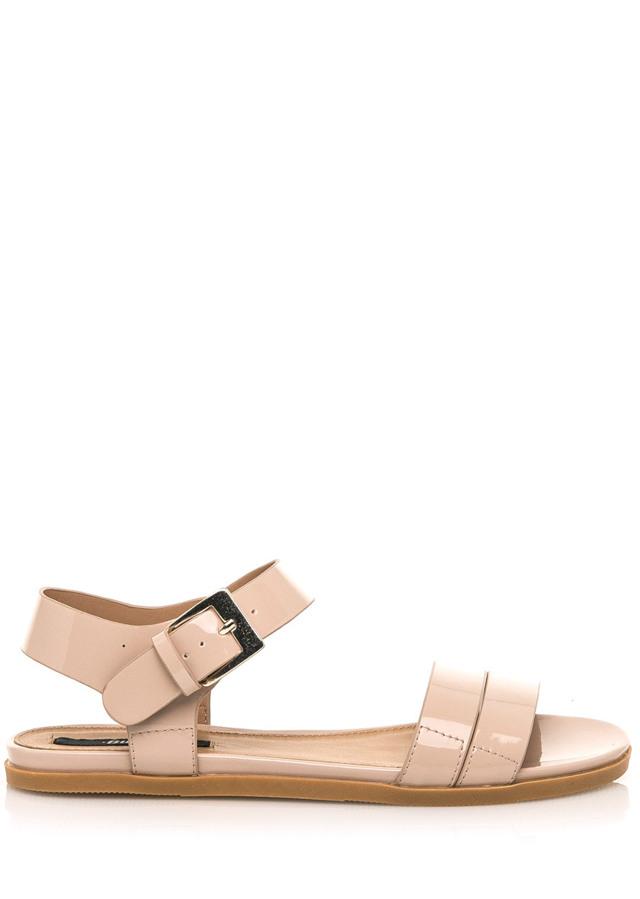 Béžové lesklé nízké sandálky MTNG - 38
