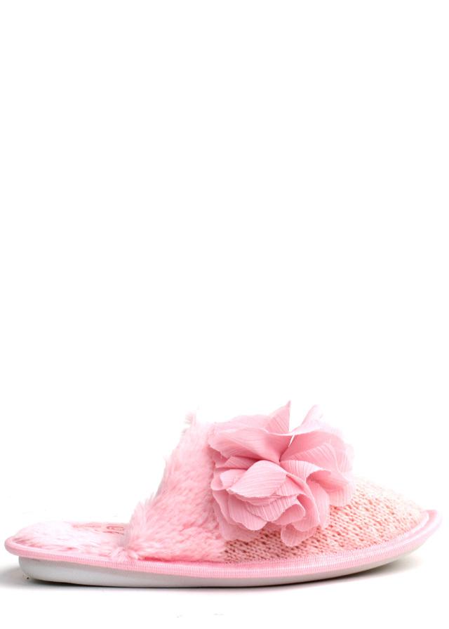Růžové teplé bačkory Chix - 39