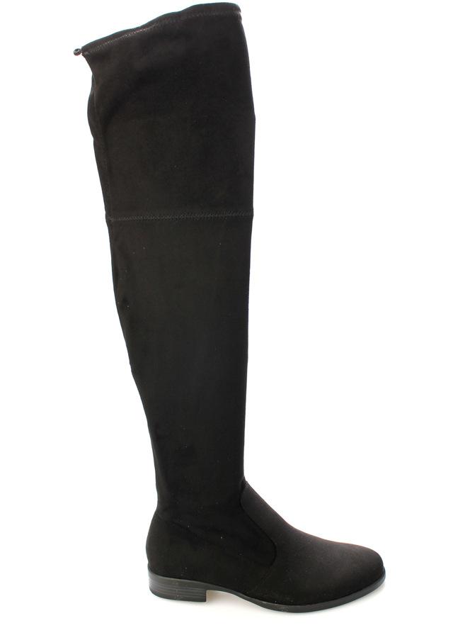 Černé elastické kozačky nad kolena Claudia Ghizzani - 37