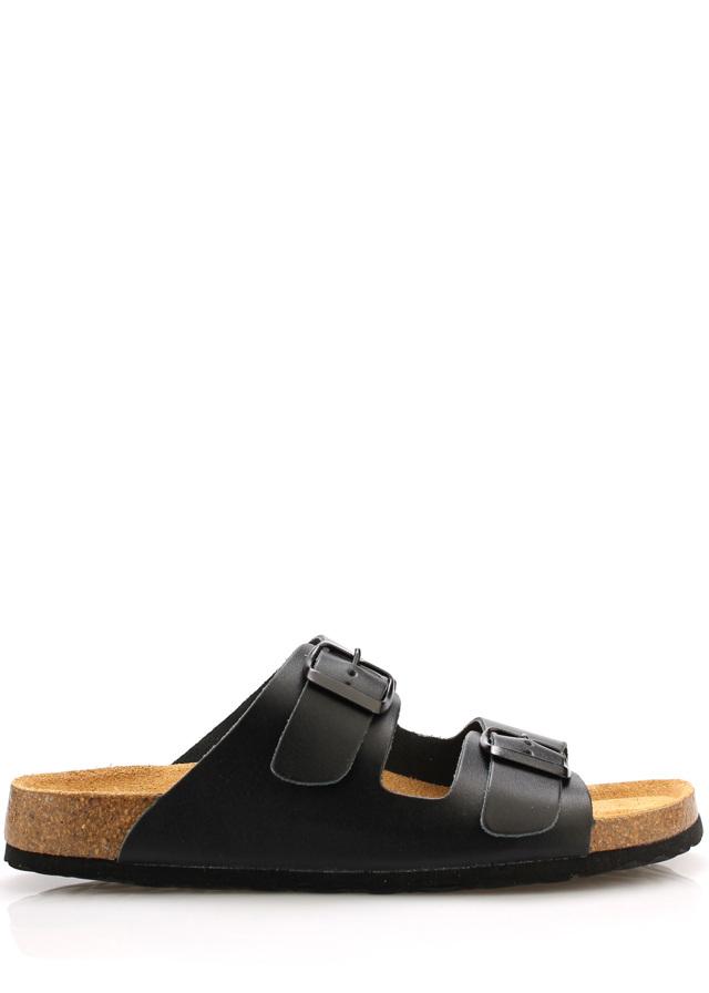 Černé kožené zdravotní pantofle EMMA Shoes - 38