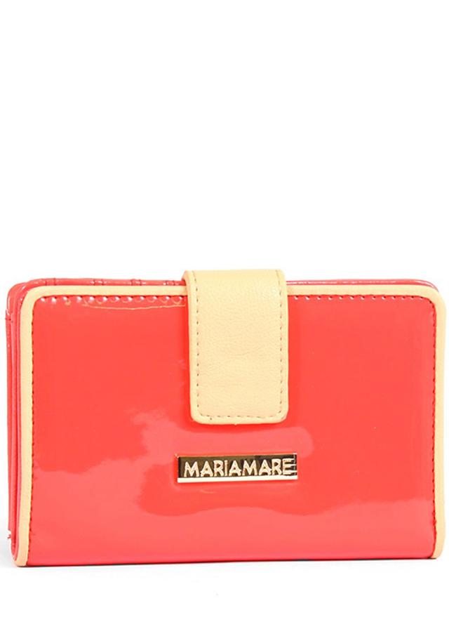 Červená lakovaná peněženka MARIA MARE
