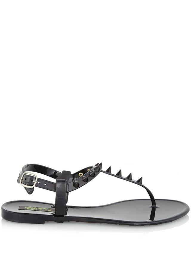 Černé plastové jelly sandálky s hroty Park Lane - 38