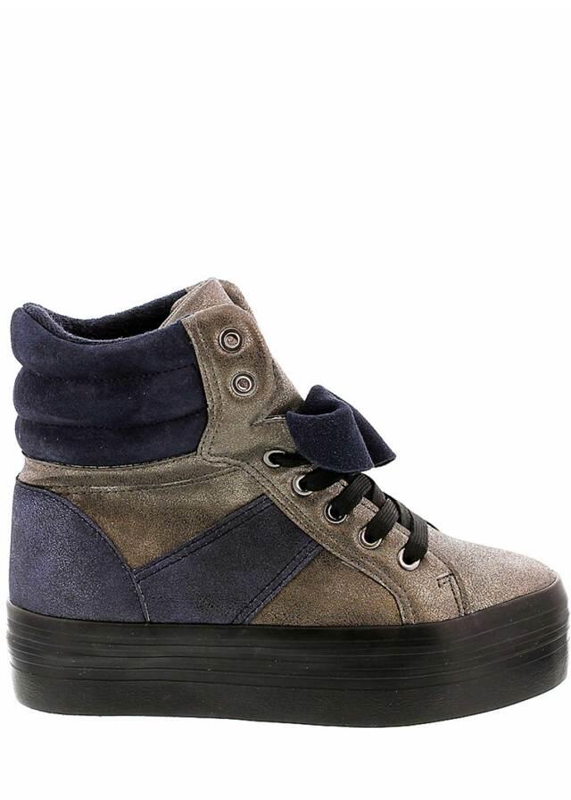 Šedé zimní boty na platformě Sixtyseven - 37