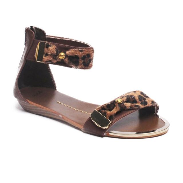 Hnědé leopardí sandálky Timeless Sarah - 39