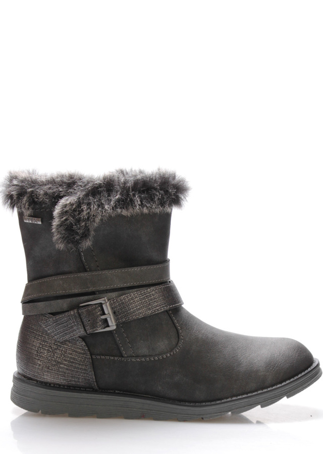 Černé zateplené zimní boty Jane Klain - 36 304fa1e1da3