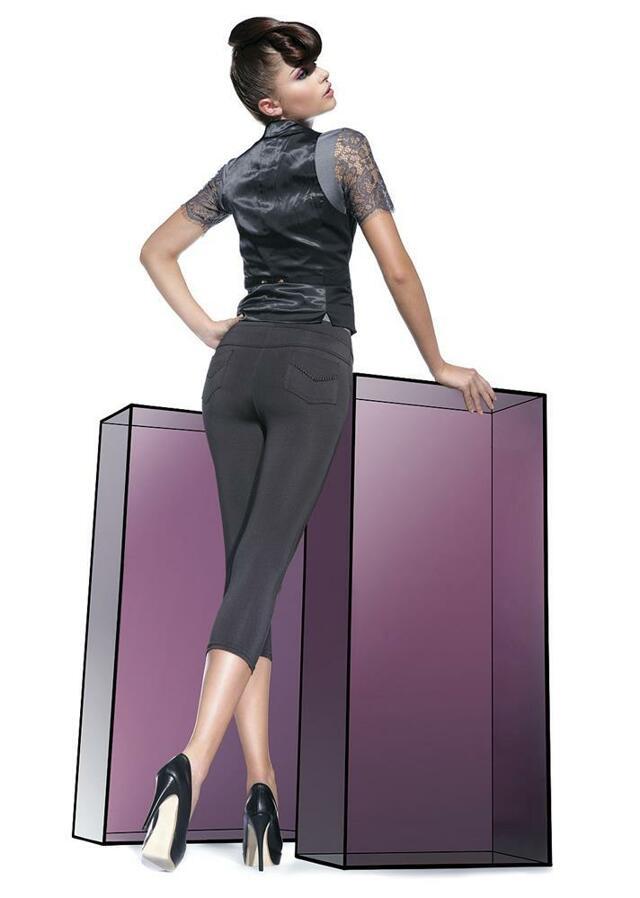Legíny Sandra short - Bas Bleu - M - černá