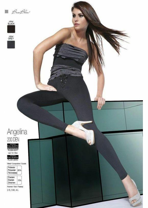 Dámské legíny Angelina - Bas Bleu - M - černá