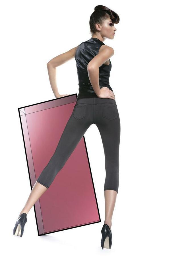 Legíny Marika short - Bas Bleu - L-4 - černá