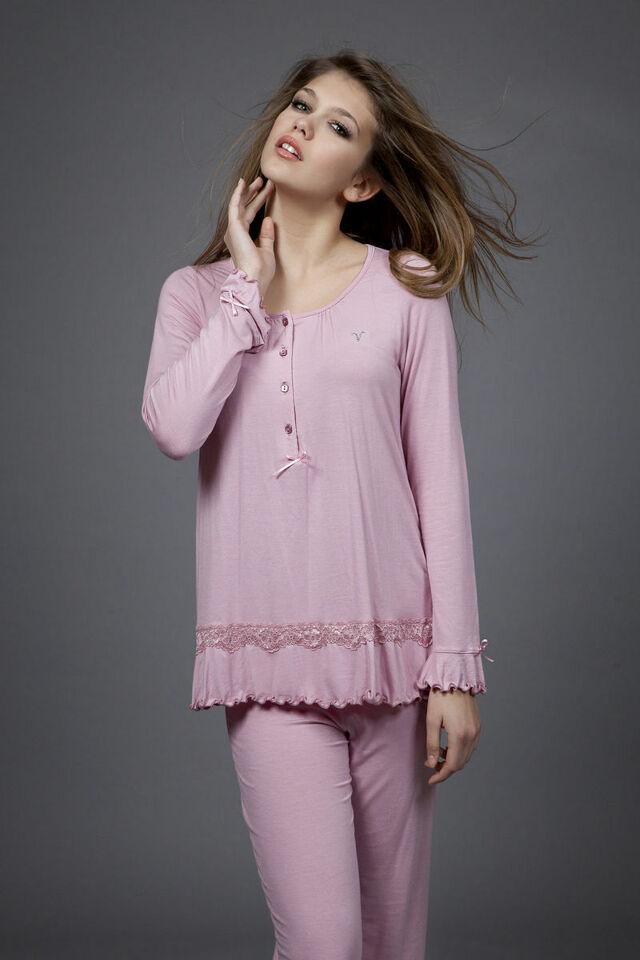 Dámské pyžamo 1498 - Vamp - XL - tmavě fialová