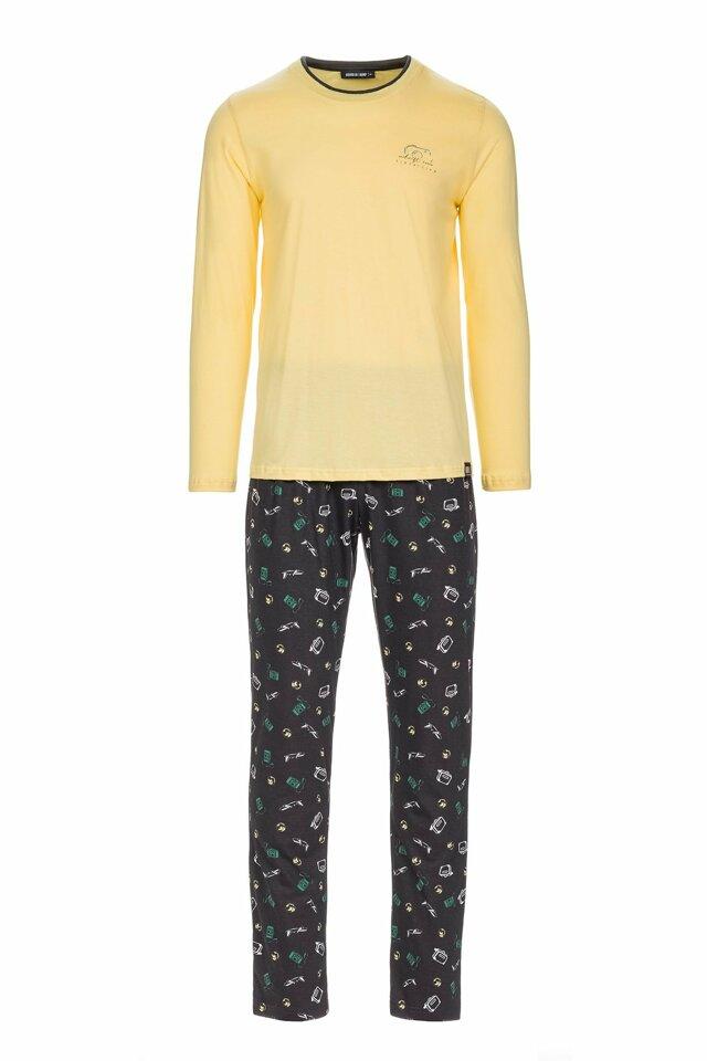 Vamp - Pánské pyžamo s potiskem fotoaparátu 13681 - Vamp - xxl