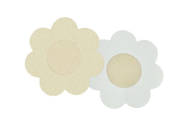 Nálepky na bradavky PS 07 - Julimex - květinky - béžová