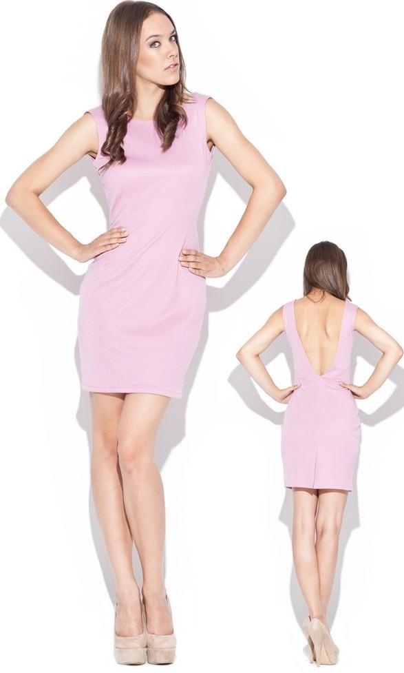 Dámské šaty růžové K025 - Katrus - M - růžová