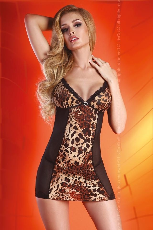 Erotické šaty Sepida - S/M - černá