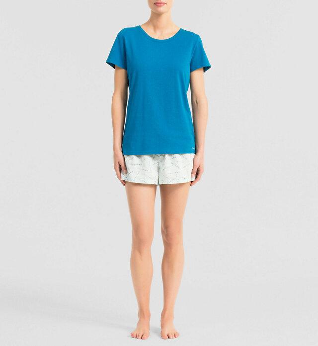 Dámské pyžamo QS5470E - Calvin Klein - M - bílá-potisk