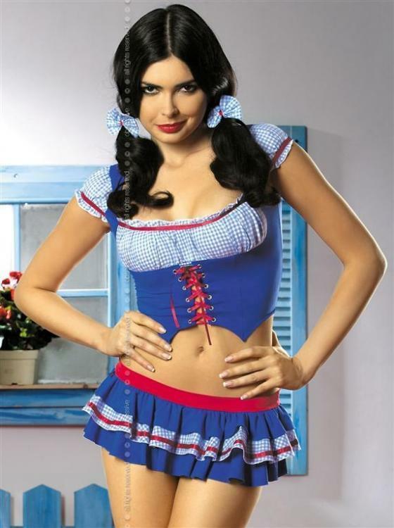 Dámský kostým Heidi - S/M - modrá