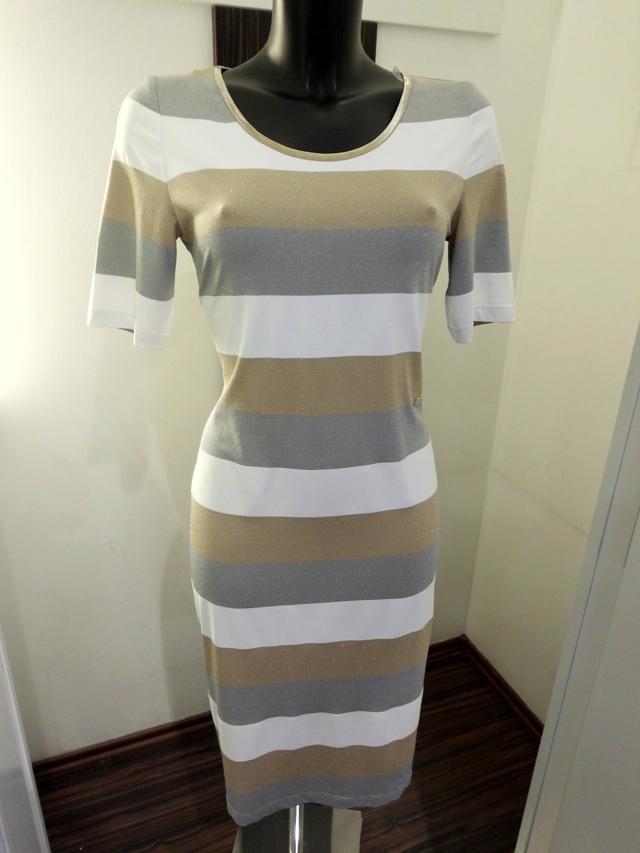Šaty 2052 - Conduo - 40 - bílá,zlatá,stříbrná