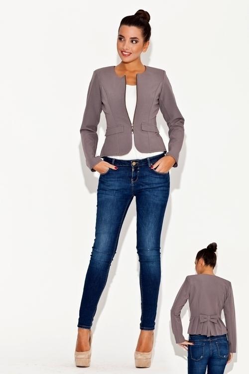 Dámské oblečení K054 grey - M - šedá