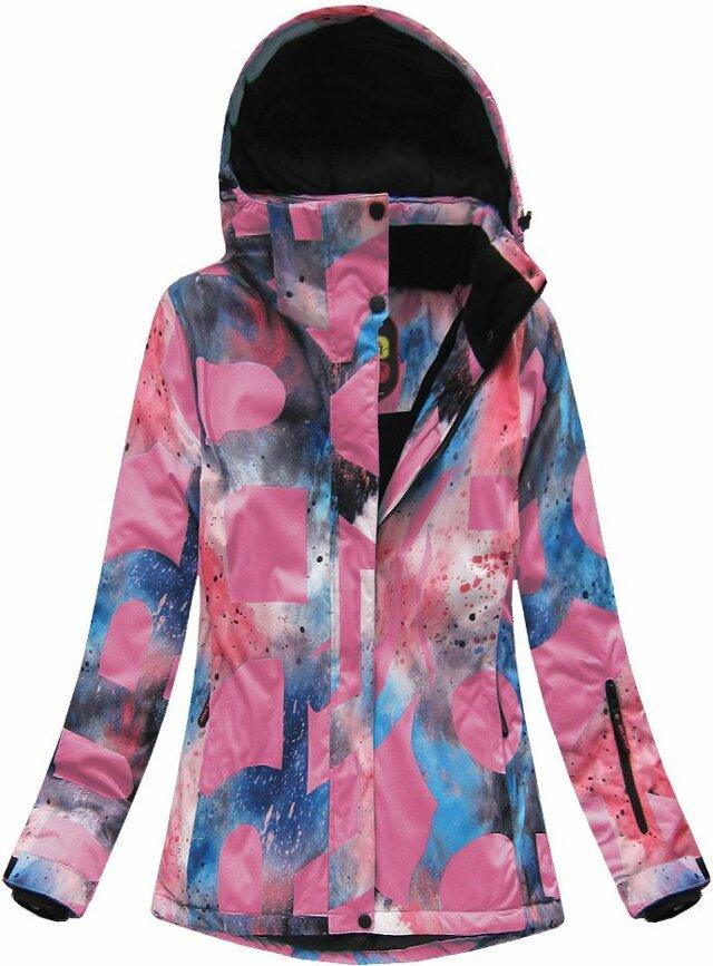 Růžová dámská zimní bunda s membránou (W182) - S (36) - růžová