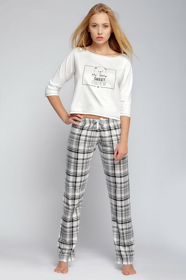 Dámské pyžamo SE-TED - Gemini - M - šedo-bílá