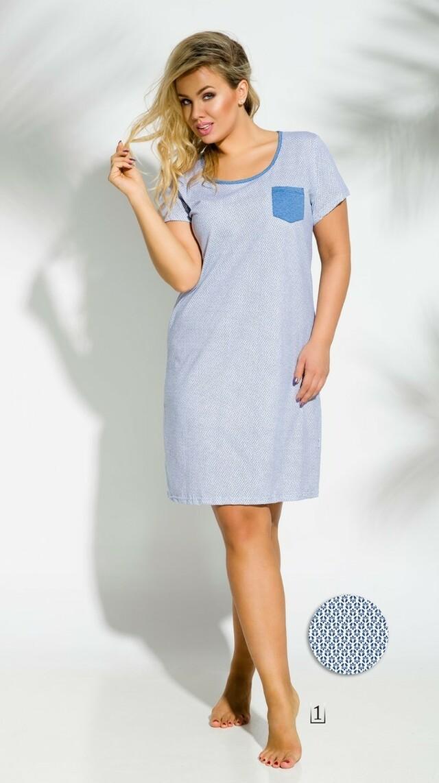 2190 Krátká dámská noční košile LUCY 2XL-3XL - TARO - 2XL