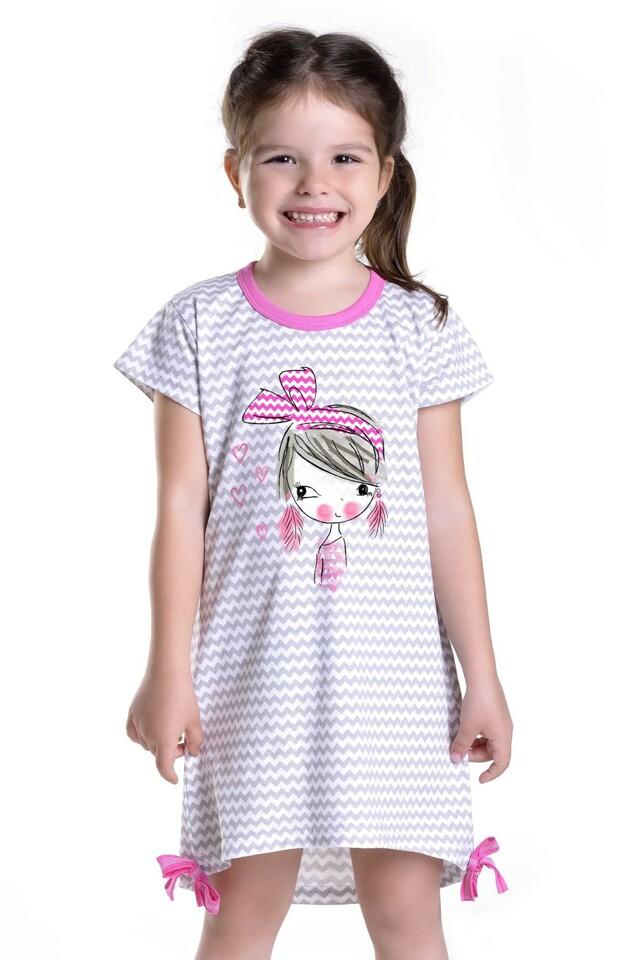 Dívčí noční košilka Lilie s panenkou - 122