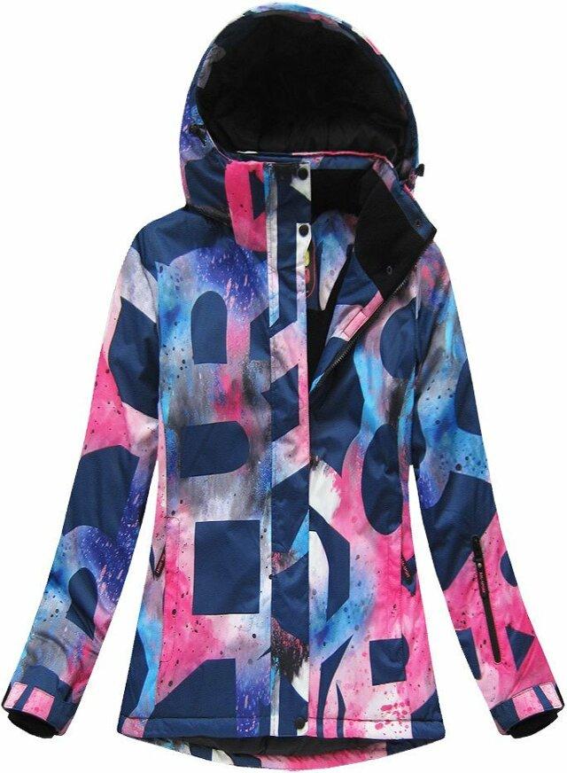 Fialová dámská zimní bunda s membránou (W182) - XXL (44) - fialová