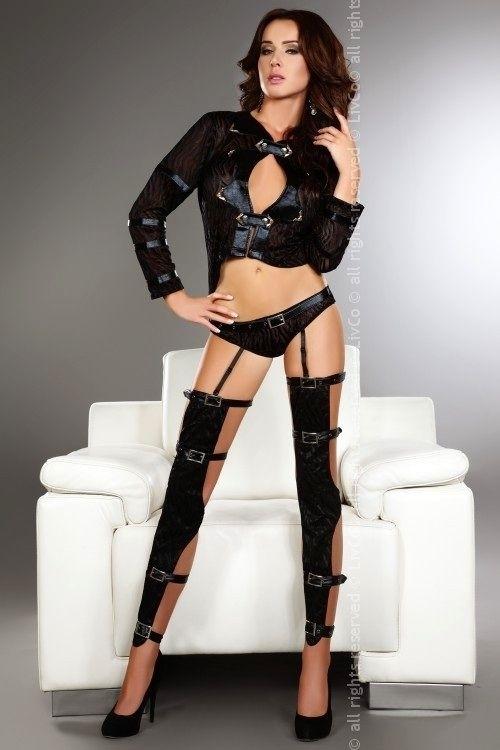 Dámský kostým Erna - L - černá