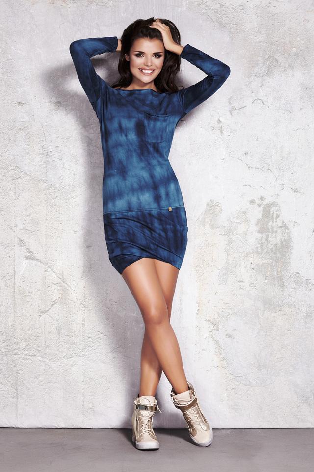 Denní šaty model M022 Infinite You - L - tm.modrá