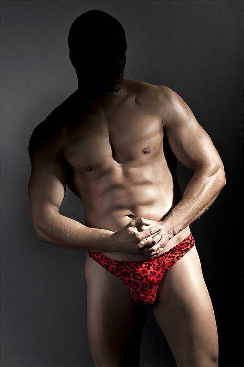 Pánská tanga Jason - S - červená-černá