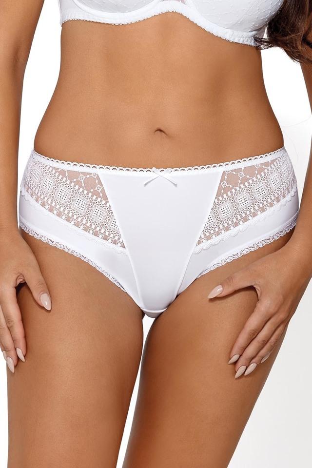 Kalhotky brazilky Ava 1650/B Frosting - XL - bílá-perlová