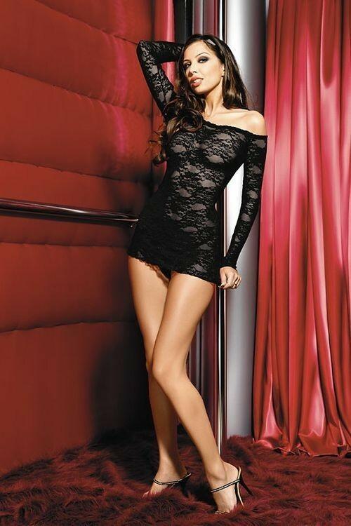 Erotická košilka Gianna black - S - černá