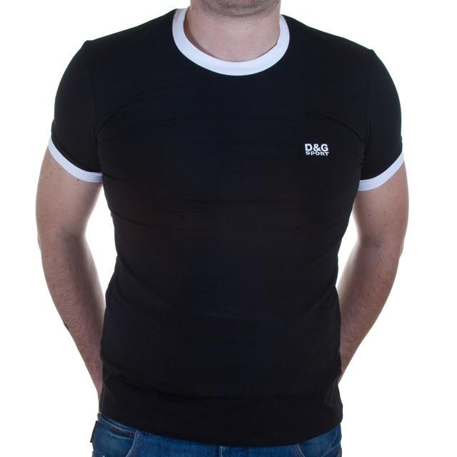 Pánské triko - Dolce Gabbana - L - černá
