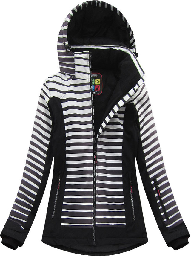 Černá dámská zimní bunda s membránou (W191) - XL (42) - černá