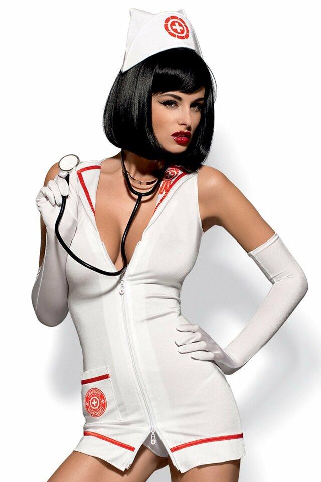 Erotický kostým Emergency dress stetoskop - S/M - viz foto