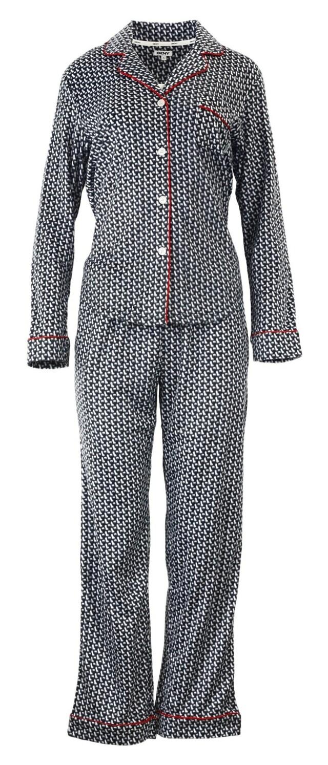 Dámské pyžamo YI2713489 - DKNY - XS - černobílá