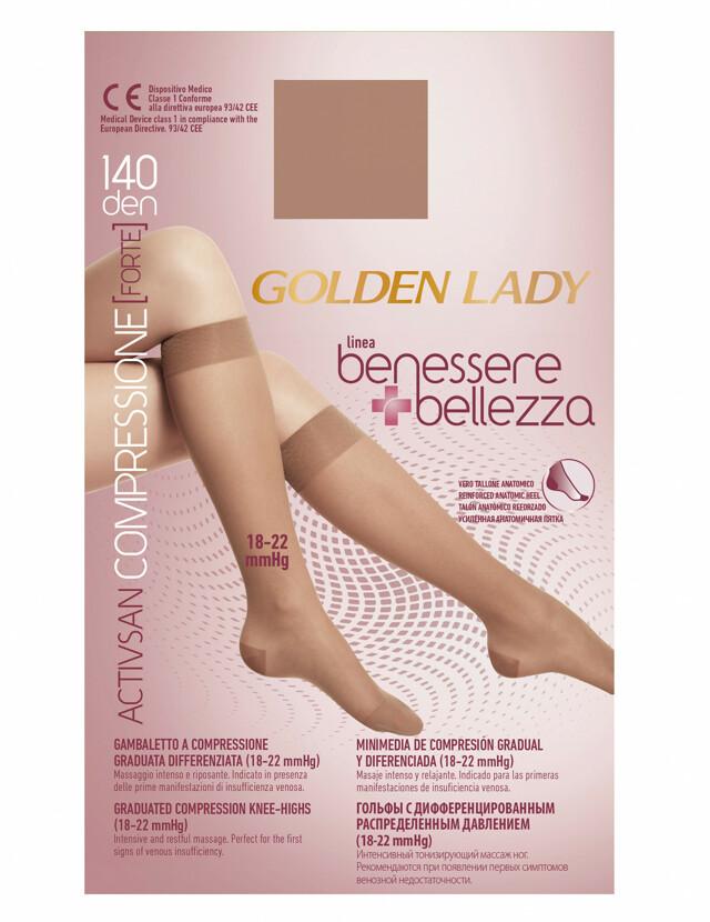 Podkolenky Golden Lady Benessere 140 den - S/M - černá